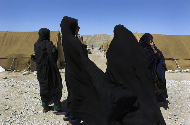 Afghan Former Refugees at UNHCR Returnee Camp. Sari Pul, Afghanistan. UN Photo/Eric Kanalstein. CC BY-NC-ND 2.0 via United Nations Photo Library Flickr.