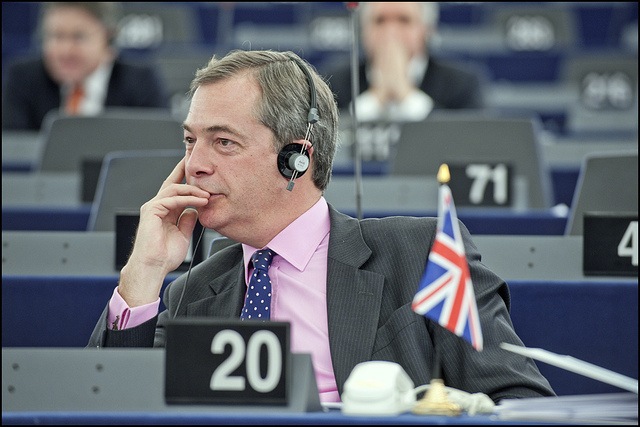 Nigel Farage, leader of the UK Independence Party. © European Union 2011 PE-EP/Pietro Naj-Oleari. CC BY-NC-ND 2.0 via European Parliament Flickr.