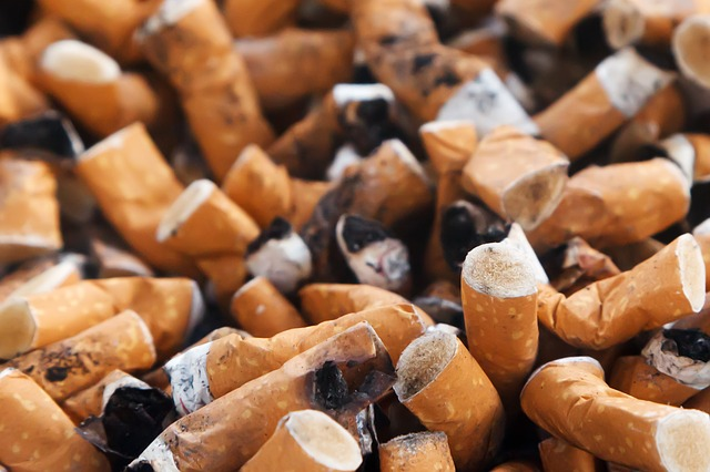 Image Credit: Cigarette Butts. Photo by Petr Kratochvil. Public Domain CC0 via publicdomainpictures.net