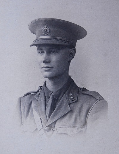 Second Lieutenant Owen Slater ready for service in France