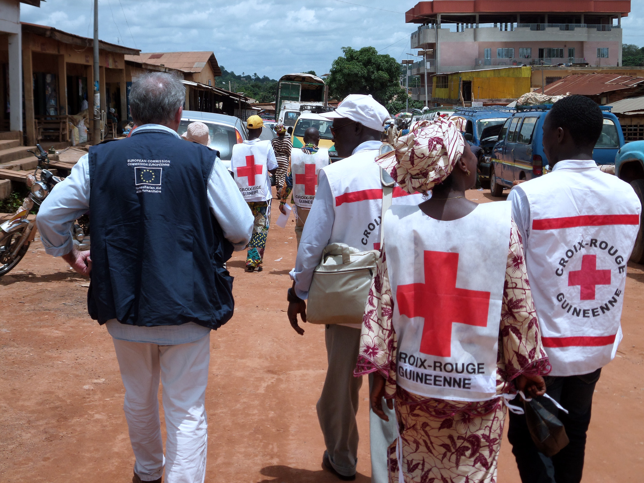 The fight against Ebola in West Africa...  ©EC/ECHO/Jean-Louis Mosser. EU Humanitarian Aid and Civil Protection. CC BY-ND 2.0 via European Commission DG ECHO Flickr.