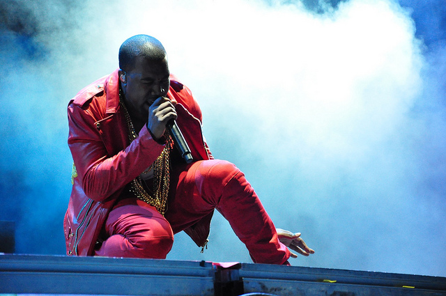 Kanye West performing at Lollapalooza on April 3, 2011 in Santiago, Chile. Photo by rodrigoferrari. CC-BY-SA-2.0 via Wikimedia Commons