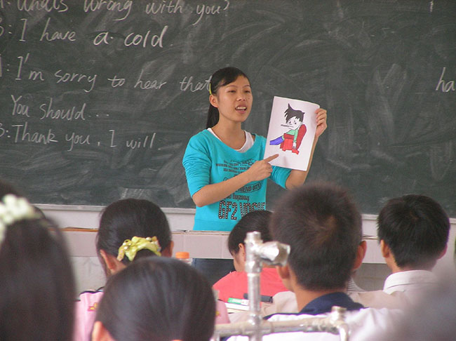 Student teacher in China