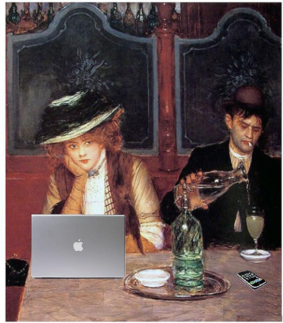 Internet Cafe after Jean Beraud
