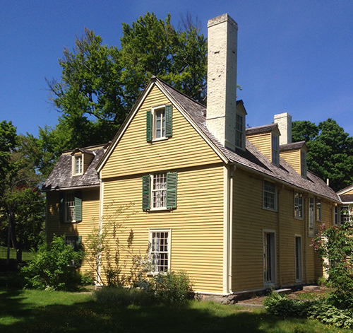 The house built for Reverend John and Sarah Hale in 1694, in Beverly, Massachusetts. Today it is operated as a museum by the Beverly Historical Society. Photo by Emerson W. Baker.
