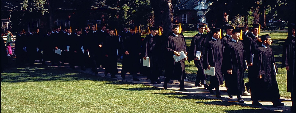 Grads with diplomas (July 30, 1969)