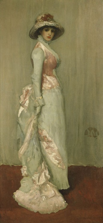 Portrait of Lady Meux by James Abbot McNeill Whistler, 1881. Frick Collection. Public domain via Wikimedia Commons.