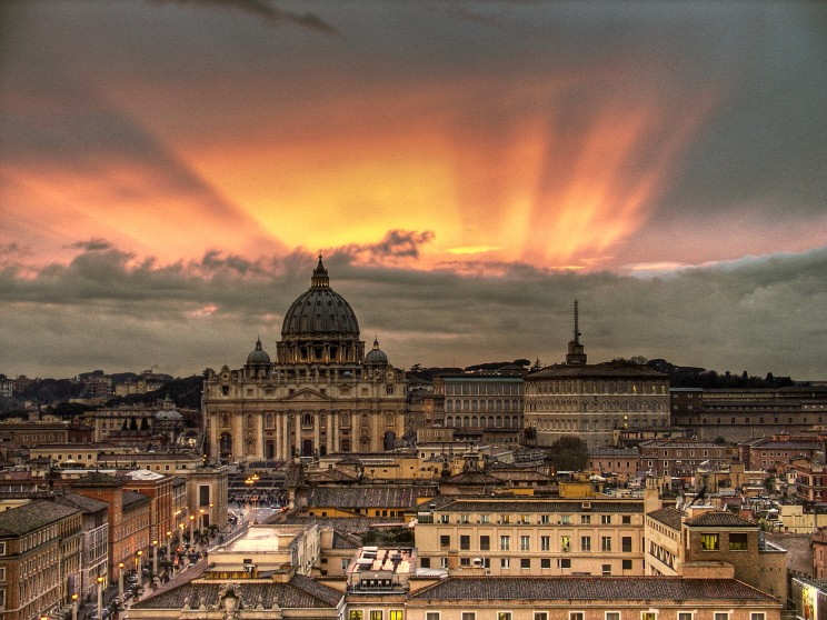 """Vatican Sunset - Rome, Italy - Easter 2008"" (2008) by Giorgio Galeotti. CC BY-SA 2.0 via Flickr."