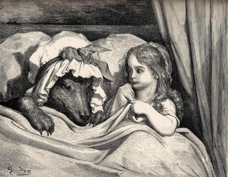 Le petit chaperon rouge, by Gustav