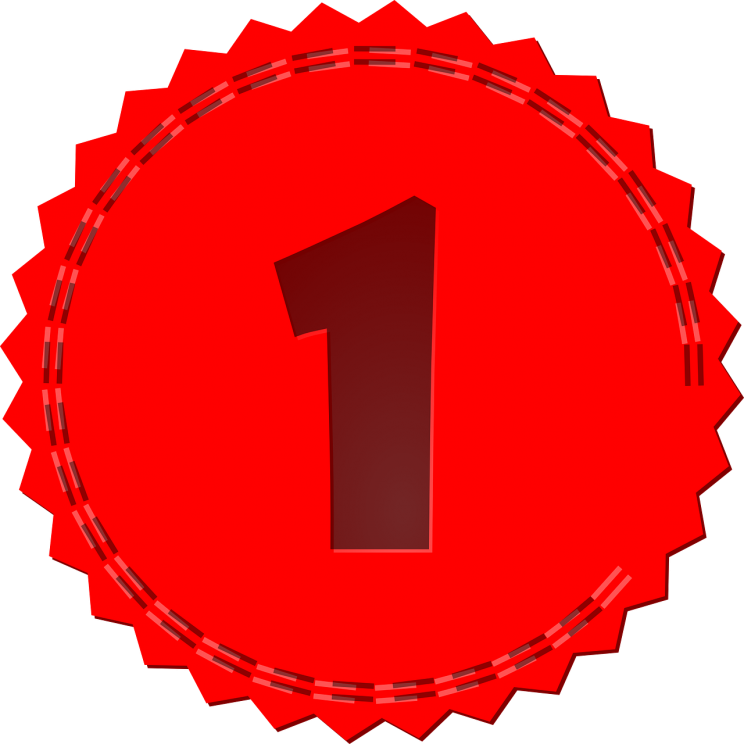Number 1 by OpenClips. CC0 via Pixabay.