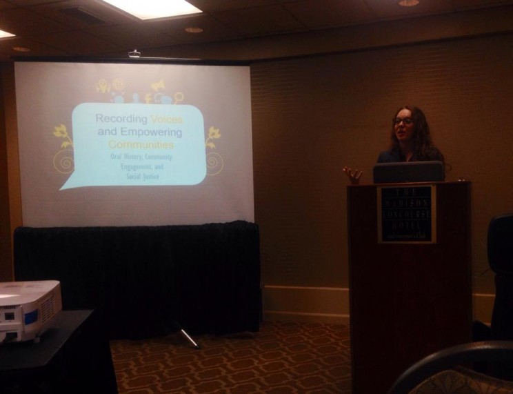 Diana Dombrowski presenting at the OHA Annual Meeting.
