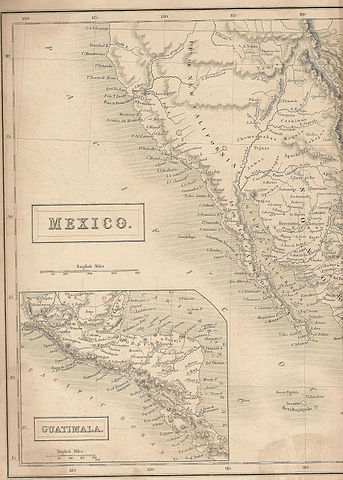 """Map of  CA, NV, UT and western AZ when they were part of Mexico""""California1838"""" by DigbyDalton - Own work. Licensed under CC BY-SA 3.0 via Wikimedia Commons."""