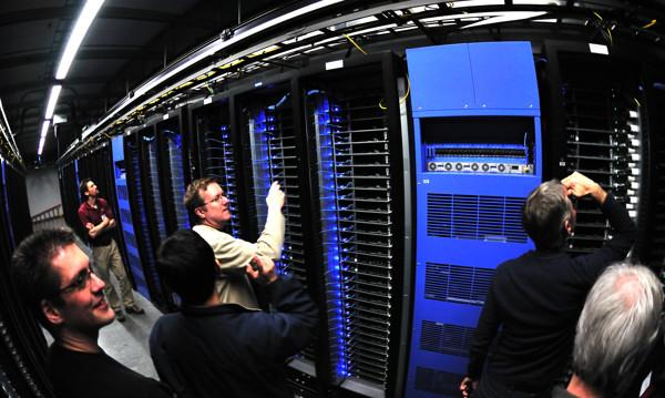 Intel team inside Facebook data center. Intel Free Press. CC BY 2.0 via Wikimedia Commons.