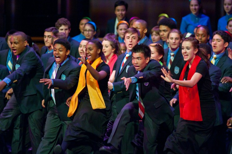 Being part of a youth ensemble is a terrific way to help adolescents stay as excited about music as these members of the Young People's Chorus of New York City. Photo courtesy of the Young People's Chorus of New York City, Artistic Director/Founder Francisco J. Núñez; photograph by Stephanie Berger.