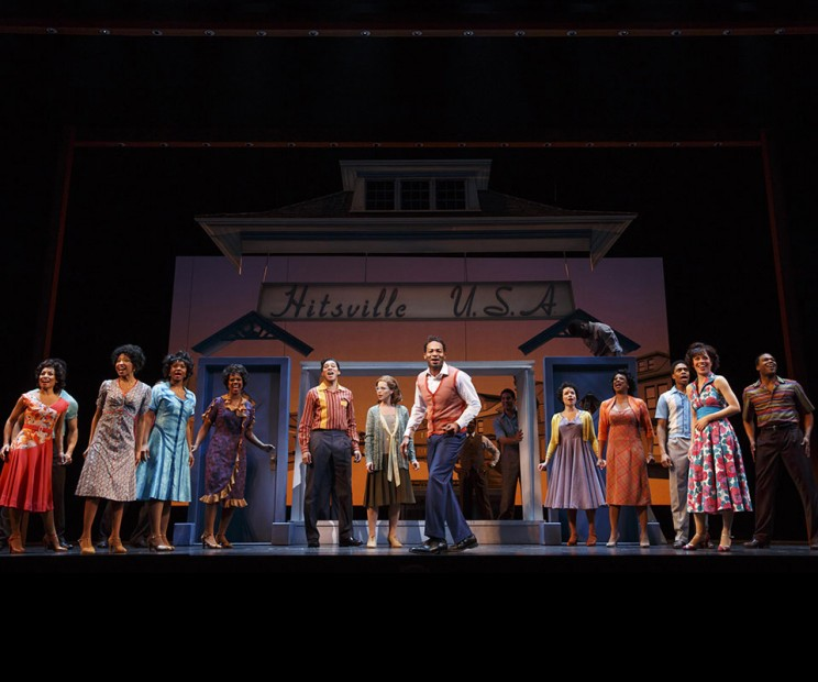 Brandon Victor Dixon and the Original Broadway Cast of Motown the Musical. Courtesy of Motown the Musical