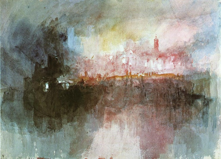 The Burning of the Houses of Parliament by William Turner