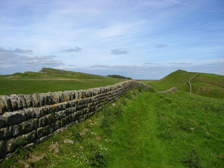 """The line shows the border of the territory to which the Romans laid claim. It was called limes, that is, """"threshold."""" Engl. limen, limit, and subliminal have the root of limes."""
