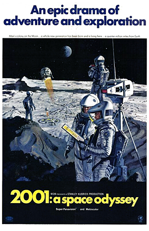 """""""Poster for 2001: A Space Odyssey"""" by Metro-Goldwyn-Mayer. Fair Use via Wikimedia Commons."""