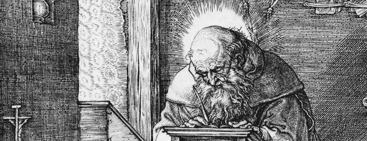 Saint Jerome in his Study by Albrecht Dürer via Wikimedia Commons [Public Domain]