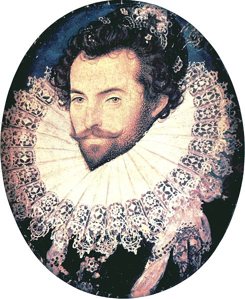 Sir Walter Raleigh, pictured above, funded the expedition to found a colony in Roanoke. Many of these colonies were founded in the pursuit of finding gold, and this colony was likely no exception since Joachim Gans -- a skilled metallurgist -- accompanied this trek. Image Credit: Public Domain via Wikimedia Commons.