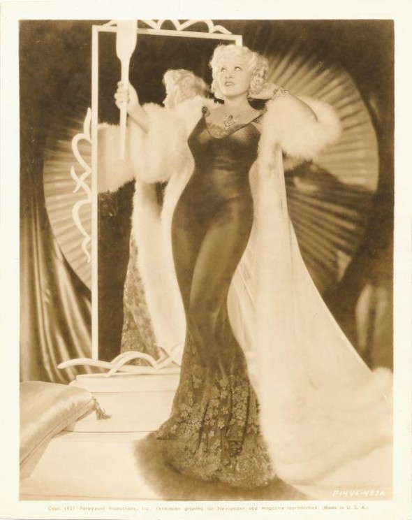 Mae West, via New York Public Library Digital Collections.