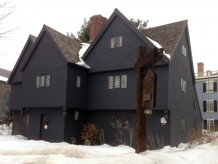 The Witch House, the home of witch trials Judge Jonathan Corwin, endures another severe Salem winter. Photo by Emerson W. Baker.