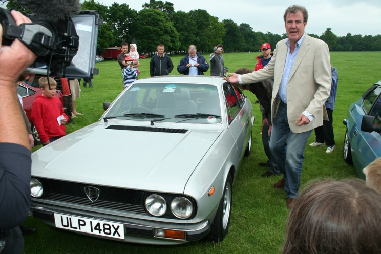 Jeremy Clarkson and James May Top Gear presenters with my Lancia Beta Coupe Stanford Hall 2008 by Tony Harrison. CC BY-SA 2.0 via Flickr.