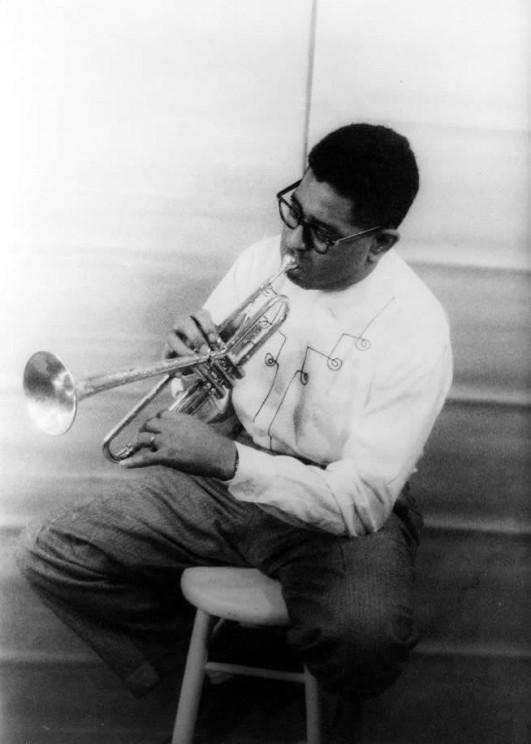 Portrait of Dizzy Gillespie by Carl Van Vechten. Library of Congress. Public domain via Wikimedia Commons.