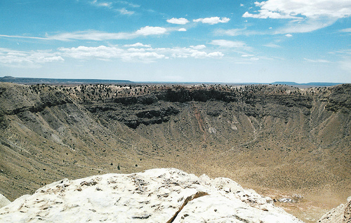 Meteor crater by dbking. CC-BY-2.0 via Flickr.