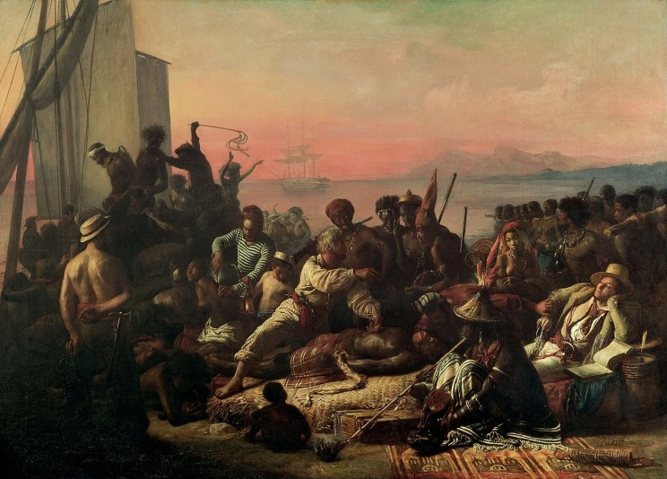 The Slave Trade by François-Auguste Biard. Wilberforce House Museum, Hull. Public domain via Wikimedia Commons