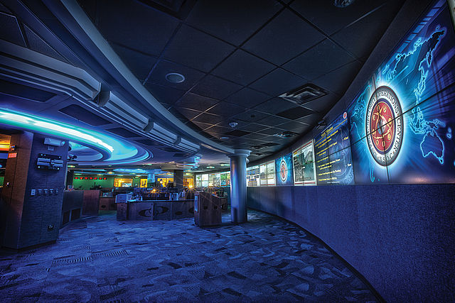 The Operations Center of the National Security Agency. Public domain via Wikimedia Commons.