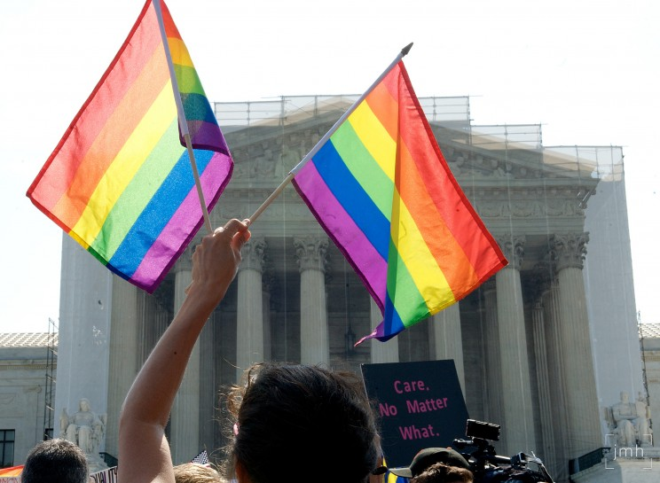 SCOTUS DOMA 53. By JoshuaMHoover. 26 June 2013. CC-BY-2.0 via Flickr.