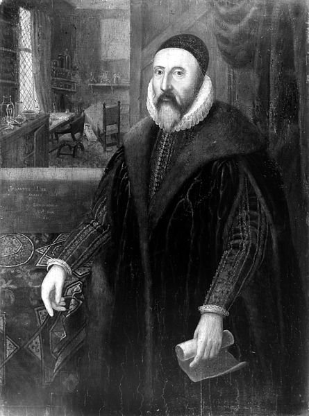 Portrait of John Dee from the Wellcome Trust. CC-BY-4.0 via Wikimedia Commons.