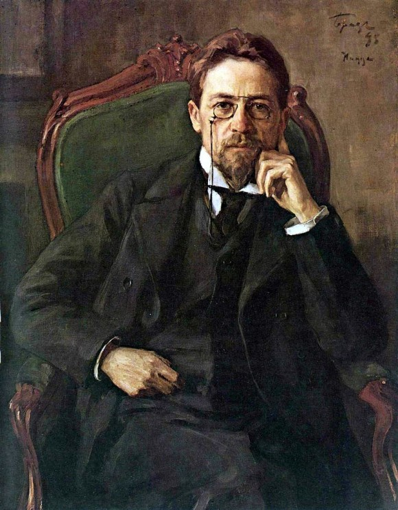 Chekhov, 1898, by Osip Braz. Public domain via Wikimedia Commons.