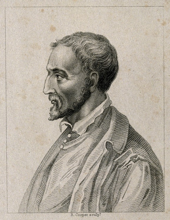 Girolamo Cardano. Stipple engraving by R. Cooper. Wellcome Library, London. CC BY 4.0 via Wikimedia Commons.