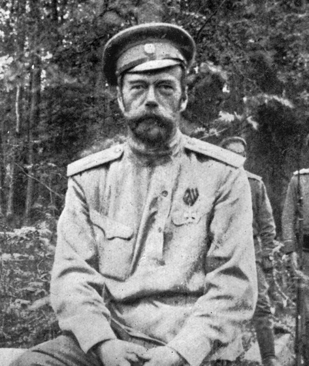 Nicholas II, former Tsar of Russia, taken after his abdication in March 1917. Image Public Domain via United States Library of Congress.
