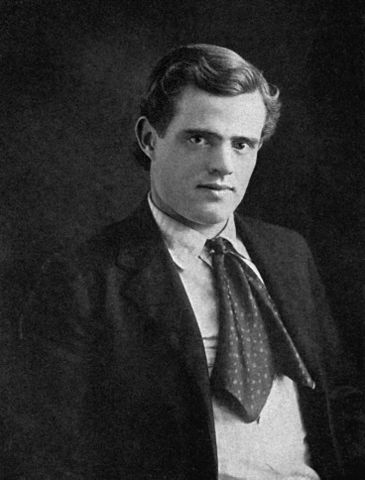 Photo of Jack London, 1903. Public domain via Wikimedia Commons.
