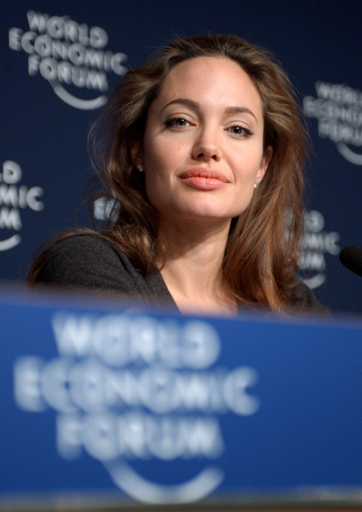 Image: Angelina Jolie at Davos, World Economic Forum 2005, by Remy Steinegger. CC-BY-SA-2.0 via Wikimedia Commons.
