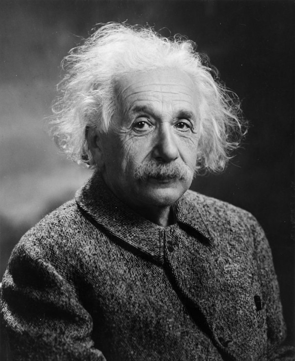Albert Einstein, 1947, via the Library of Congress. Public domain via Wikimedia Commons.