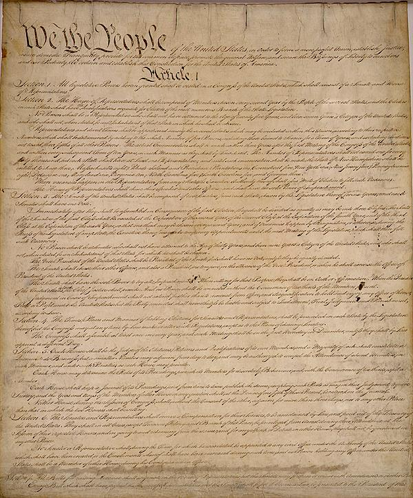 United States Constitution by Constitutional Convention. Public domain via Wikimedia Commons.