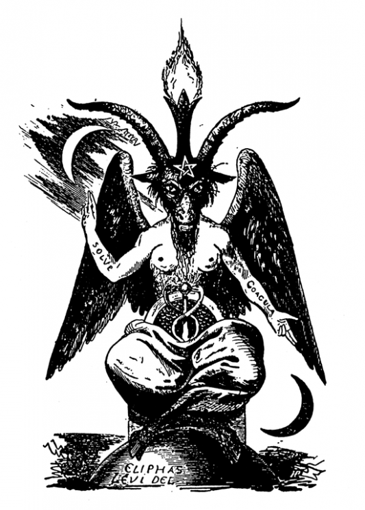"""Der Daemon Baphomet"" by Eliphas Lévi. Public Domain via Wikimedia Commons."
