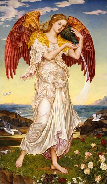Eos (1895), by Evelyn de Morgan. Public domain via Wikimedia Commons.