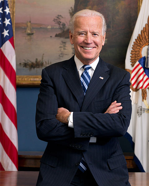 Vice President Joe Biden. Official portrait via the United States Government. Public domain via Wikimedia Commons.