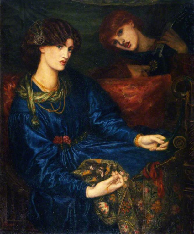 Mariana by Dante Gabriel Rossetti. Aberdeen Art Gallery. Public Domain via Wikimedia Commons