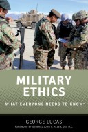9780199336883 - Military Ethics: What Everyone Needs to Know by George Lucas