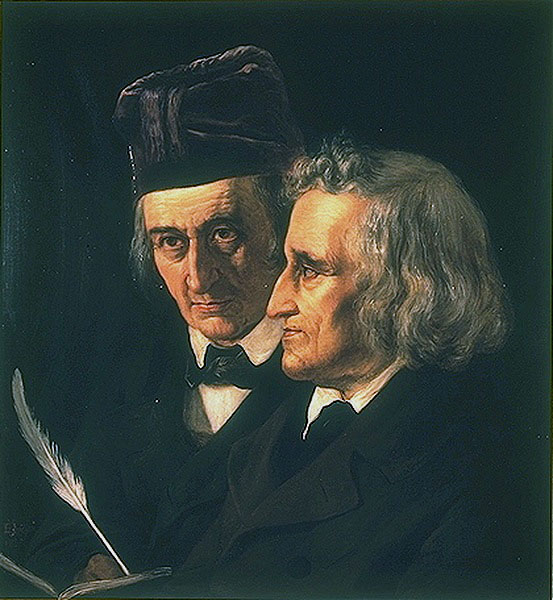 Jacob and Wilhelm Grimm. They were not only brothers but also bosom friends