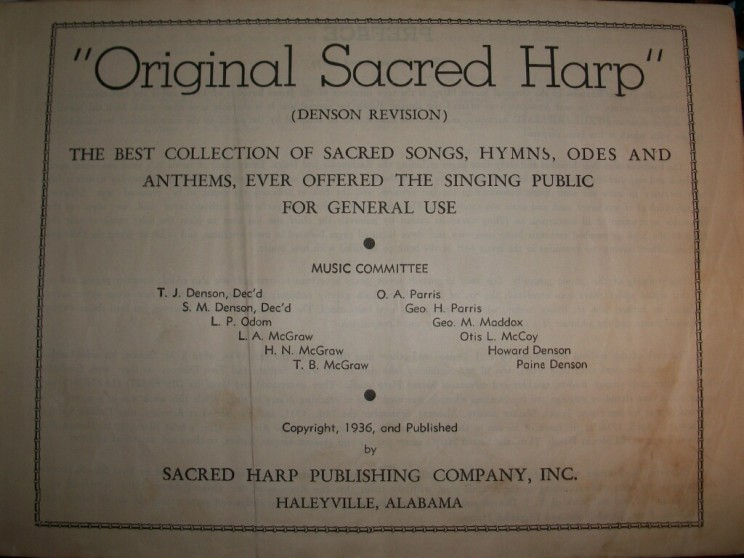 """Photo of Original Sacred Harp"" by Southflorida69 via Wiki Commons"