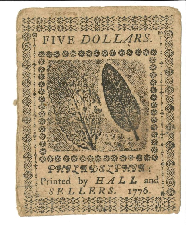 Currency Five Dollar Note Leaves Side
