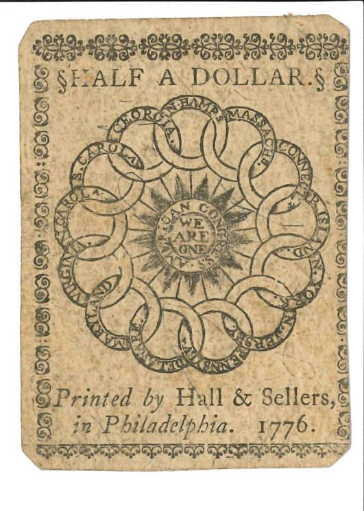 Currency Half Dollar Circles Side