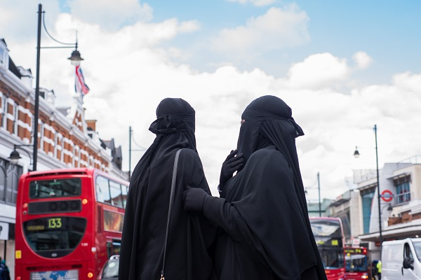 Salafi women, Brixton, south London, UK.